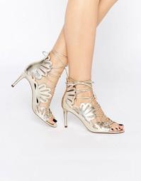 Туфли на каблуке со шнуровкой ASOS SWIRL - Шампанское