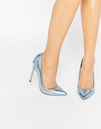 Туфли на высоком каблуке с острым носом ASOS PHRASE - Серебряный