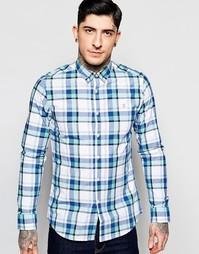 Узкая рубашка в клетку Farah - Coastal blue