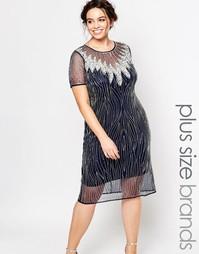 Платье с прозрачным верхним слоем и вырезом капелькой сзади Lovedrobe