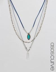Многоярусное ожерелье ASOS CURVE - Мульти