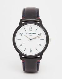 Часы с черным кожаным ремешком Ben Sherman - Черный