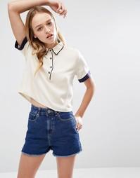 Укороченная рубашка бойфренда Daisy Street - Кремовый