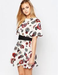 Платье с цветочным принтом Boohoo - Мульти