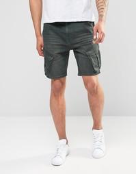 Джинсовые шорты слим цвета хаки ASOS - Хаки