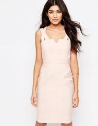 Платье-футляр с двойными бретельками Paper Dolls - Розовый