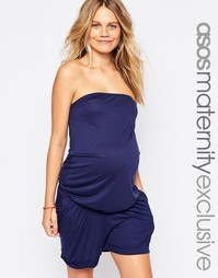 Комбинезон-бандо для беременных ASOS Maternity - Темно-синий