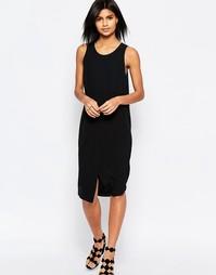 Платье с разрезом спереди ASOS - Черный
