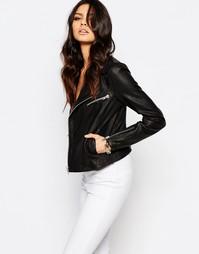 Кожаная байкерская куртка Y.A.S Beat - Черный