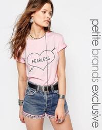 Футболка Glamorous Petite Fearless - Розовый