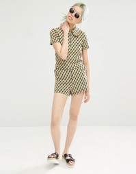 Жаккардовые шорты с цветочным принтом Monki - Принт