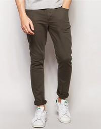 Супероблегающие джинсы цвета хаки ASOS - Forest night