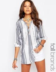 Oversize-рубашка в полоску Glamorous Tall - Мульти