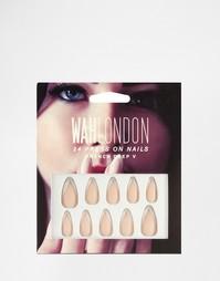 Накладные ногти WAH London - Французский маникюр - French deep v