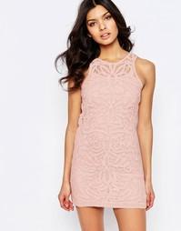 Кружевное платье мини Foxiedox Monticello - Розовый