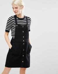 Джинсовое платье Monki - Черный