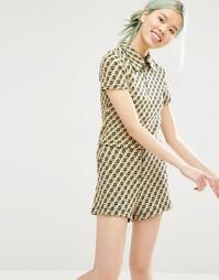 Жаккардовая рубашка с цветочным принтом Monki - Принт