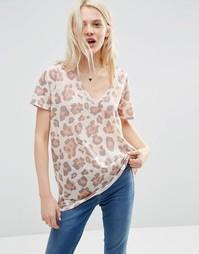 Удлиненная футболка с животным принтом ASOS - Мульти