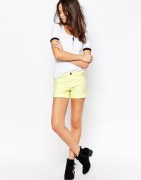 Джинсовые шорты классического кроя с манжетами J.D.Y - Нежно-желтый JDY