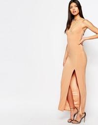 Платье макси с элементами сбруи-бандажа Club L - Macaroon