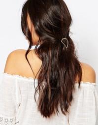 Заколка для волос с геометрическим дизайном DesignB London - Золотой