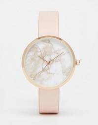 Часы с мраморным принтом на циферблате ASOS - Телесный