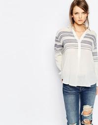 Льняная рубашка в полоску Samsoe & Samsoe Mia - Кремовый Samsøe &; Samsøe