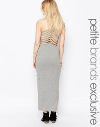 Платье макси с отделкой сзади Noisy May Petite - Серый меланж