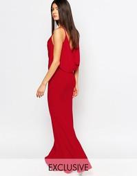Платье макси с драпировкой спереди и сзади Club L - Красный