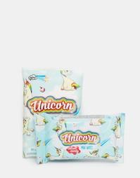 Сухие и влажные салфетки в комплекте Unicorn - Единорог Beauty Extras