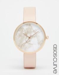 Часы с мраморным принтом на циферблате ASOS CURVE - Телесный