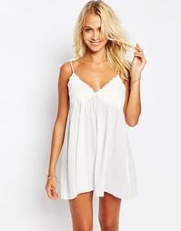 Пляжное платье бэби‑долл с кружевными чашечками ASOS - Белый