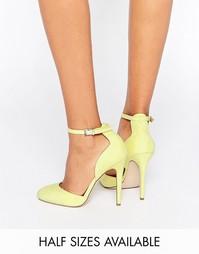 Туфли на высоком каблуке ASOS PLAYWRIGHT - Бледно-желтый