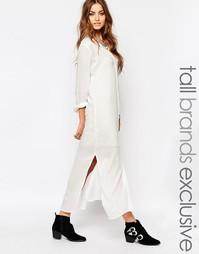 Платье-рубашка макси Noisy May Tall - Белый