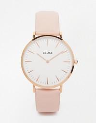 Часы с розовым кожаным ремешком Cluse La Boheme CL18014