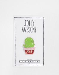 Эмалированный значок с кактусом Jolly Awesome - Мульти