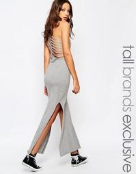 Платье макси с решетчатой отделкой на спинке Noisy May Tall