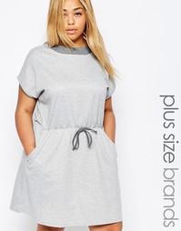 Трикотажное платье для дома с эластичной талией Pink Clove - Серый