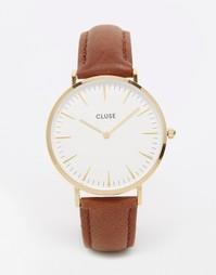 Часы со светло-коричневым кожаным ремешком Cluse La Boheme CL18408