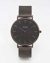 Часы с черным сетчатым браслетом Cluse La Boheme CL18111 - Черный