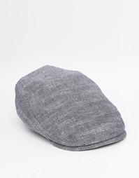 Плоская кепка из шамбре ASOS - Синий