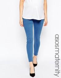 Синие джинсы скинни для беременных ASOS Maternity Ridley - Синий