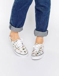 Кроссовки с принтом Vans Authentic Hula - Классический белый