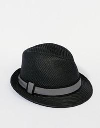 Соломенная шляпа-федора Goorin Killian - Черный