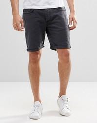 Черные джинсовые шорты Selected Homme - Серый