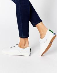 Белые кожаные кроссовки с перфорацией Keds Triumph - Белый