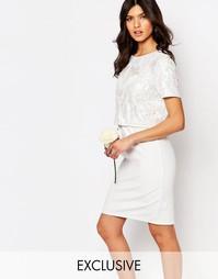 Платье-футляр с укороченным топом и отделкой True Decadence - Белый
