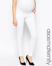 Белые зауженные джинсы для беременных ASOS Maternity Ridley - Белый