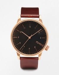 Часы с бордовым ремешком Komono Winston - Burgundy