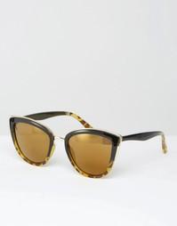 Солнцезащитные очки кошачий глаз Missguided - Коричневый